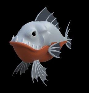 toy piranha 3D model