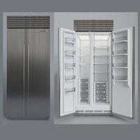 SUBZERO BI-36SS Refrigerator- Freezer -With Interior