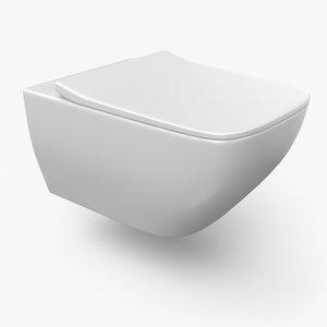 3D model toilet designed pbr