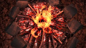 3D fireplace spark