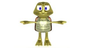 funny turtle animation model