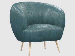 souffle chair ruched leather 3D