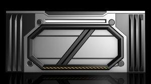 sci fi door 3D