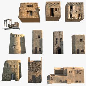 3D terrain vue deserts model