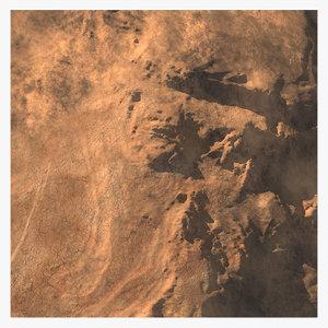 terrain deserts hill model