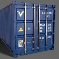 PBR 40 ft Shipping Cargo Container - Blue