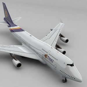 boeing 747 thai airways 3D