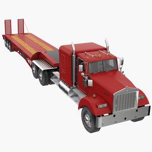 truck semi trailer 3D model