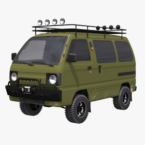 3D suzuki carry 4x4 model