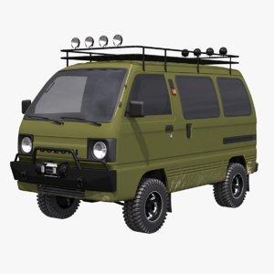 3D suzuki carry 4x4 model