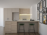 Kitchen furniture and applinces