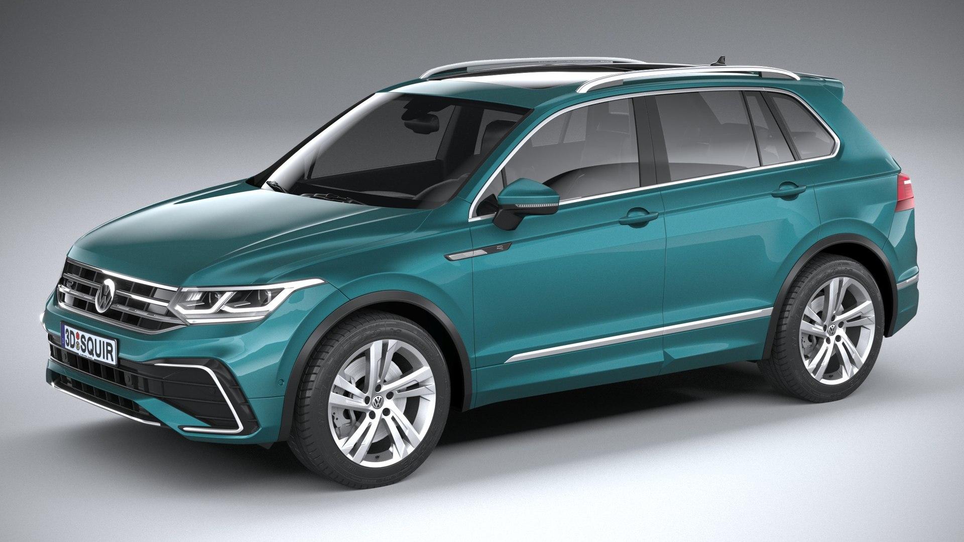 Volkswagen Tiguan R-Line 2021 3D-Modell - TurboSquid 1601222