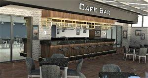 pub caffe decor 3D model