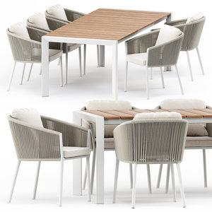 3D armchair alexa extendable table