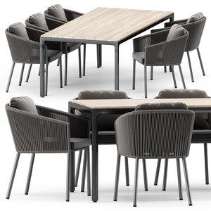 3D omer armchair illum table model