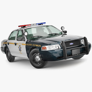 victoria crown police 3D model