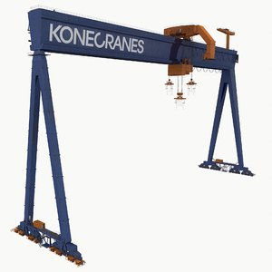 real-time goliath gantry crane 3D