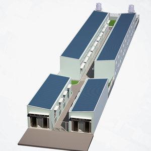 social housing unit 3D model