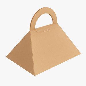 3D pyramid cardboard box model