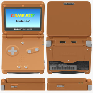 3D model boy advance sp orange