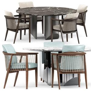 viola chair wedge table 3D model