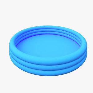 3D swim pool inflatable model