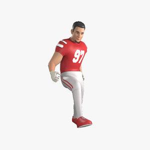 football player goalkeeper 3D model