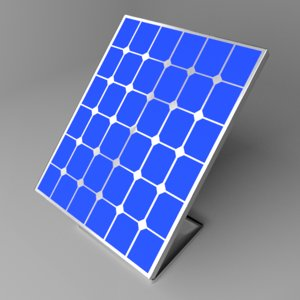 solar panel 3 3D model