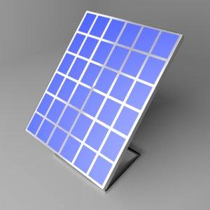 3D model solar panel 1