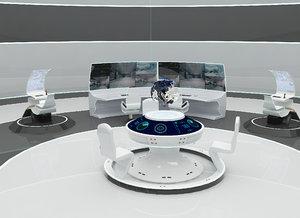 futuristic command 3D