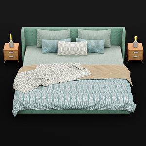 3D model bed modern