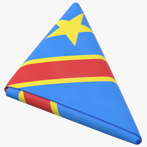 flag folded triangle democratic model