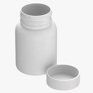 plastic bottle pharma 30ml 3D model