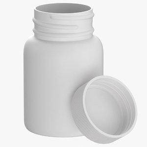 plastic bottle pharma 30ml 3D