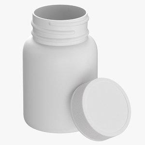 3D plastic bottle pharma 30ml