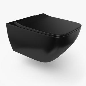 3D toilet designed pbr model