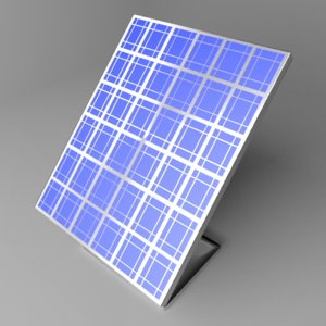 3D solar panel 5 model