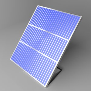 solar panel 4 3D