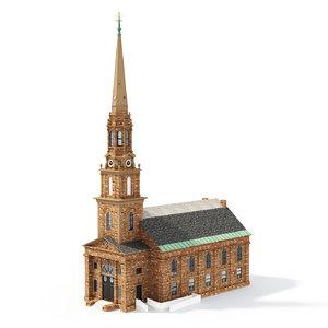 3D arlington street church model