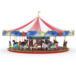 3D carousel attraction
