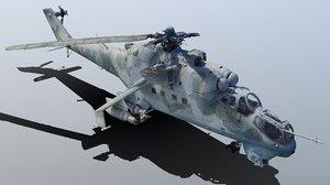 mi-24v exterior raw scan 3D model