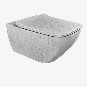 toilet designed pbr 3D model