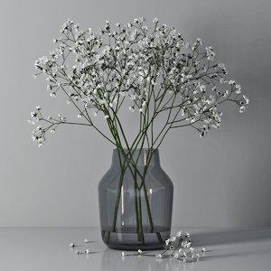 3D gypsophila vase