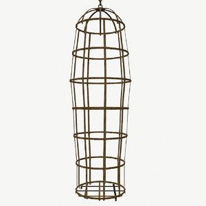steel cage torture people 3D model