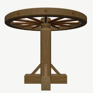 3D breaking wheel model