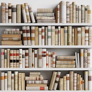 classic books 11 3D model
