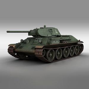 3D t-34-76 - 1941 soviet