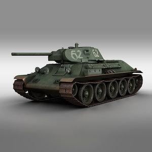 3D model t-34-76 - 1941 soviet