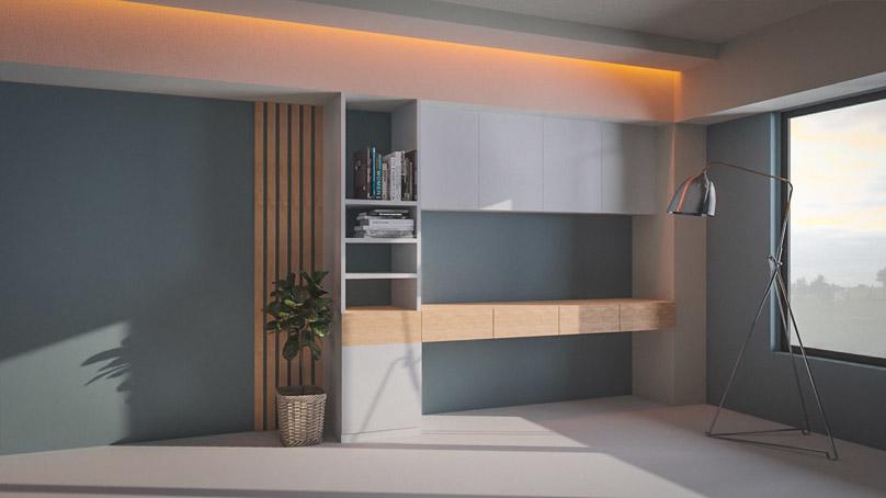 study nook living room 3D model