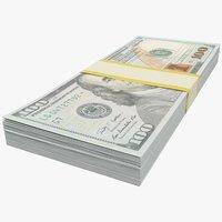 Stack of One Hundred Dollar Bills V1